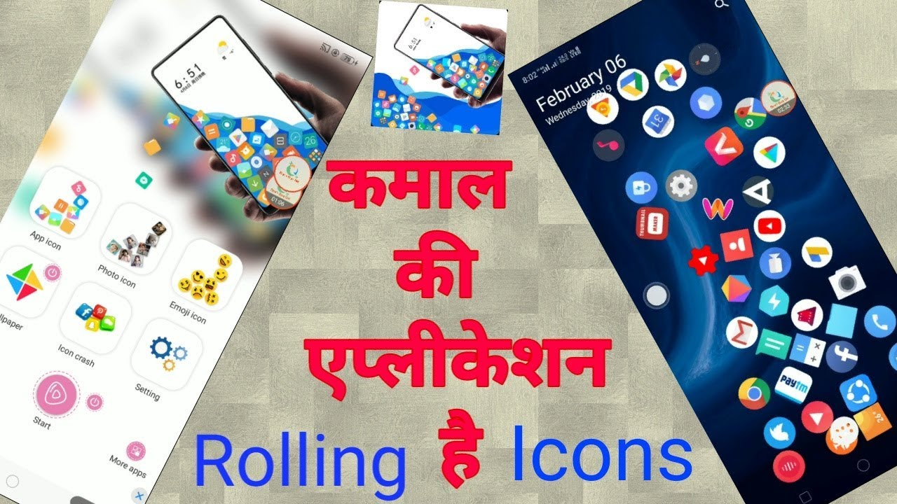 rolling icons app